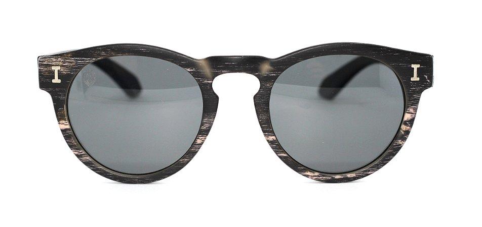 Óculos de Sol de Acetato com Bambu Leonor Black