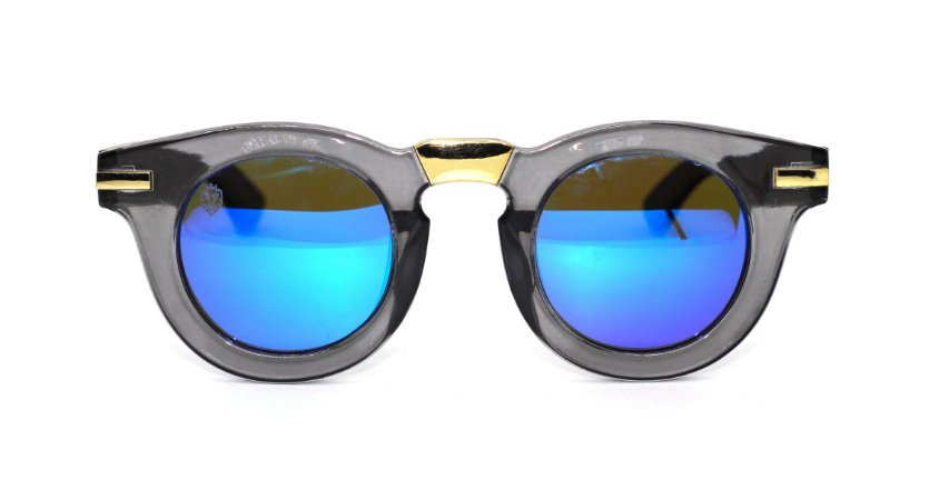 Óculos de Sol de Acetato com Bambu Carlota Blue