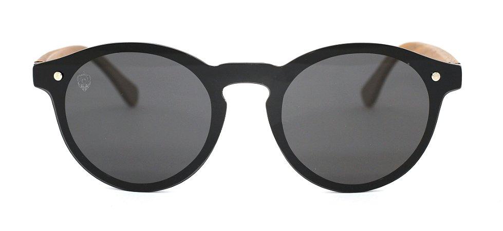 Óculos de Sol de Acetato com Madeira Tiana Black