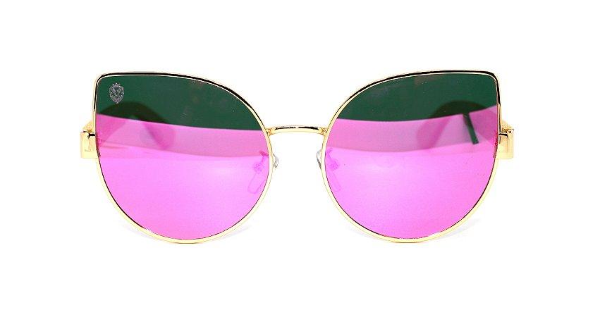 Óculos de Sol de Bambu e Metal Aurora