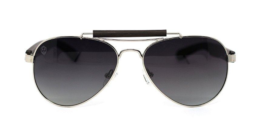 Óculos de Sol de Madeira e Metal Sonny Black