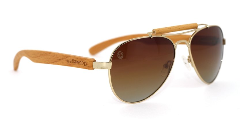 Óculos de Sol de Madeira e Metal Sonny Brown