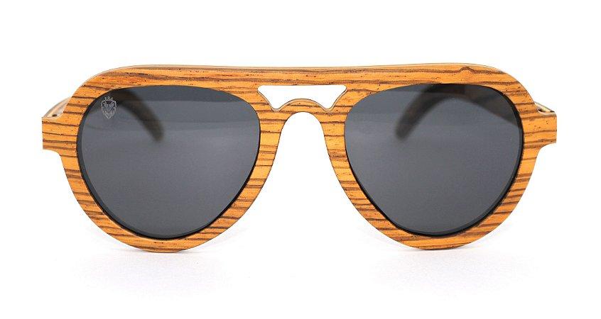 Óculos de Sol de Madeira Banion Brown