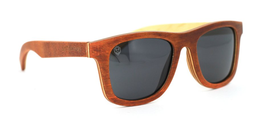 Óculos de Sol de Madeira Merlino