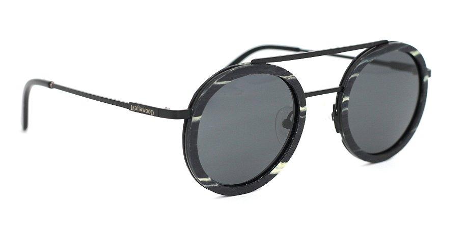 Óculos de Sol de Madeira e Metal Schultz Black