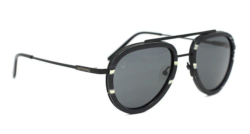 Óculos de Sol de Madeira e Metal Lepke