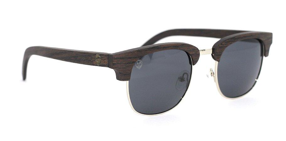 Óculos de Sol de Madeira e Metal Castellano