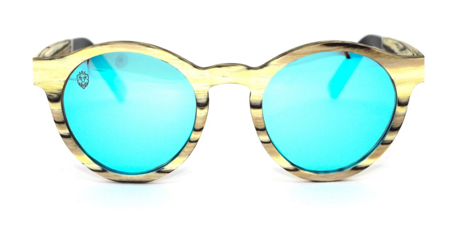 Óculos de Sol de Madeira Hidra