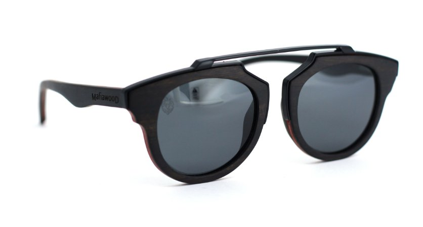 Óculos de Sol de Madeira e Metal Genovese II
