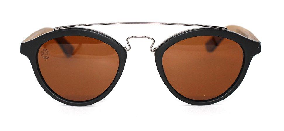 Óculos de Sol de Acetato com Madeira Zafora