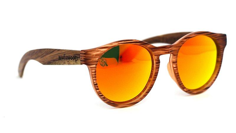 Óculos de Sol de Acetato com Madeira Anafi