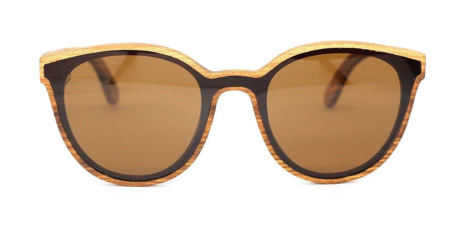 Óculos de Sol de Madeira Bugs Brown
