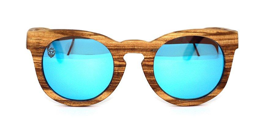 Óculos de Sol de Madeira Franzese Blue