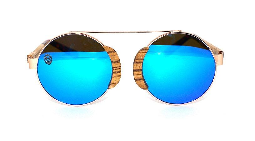 Óculos de Sol de Madeira e Metal Kyra