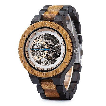 Relógio de Madeira Mikonos Automático