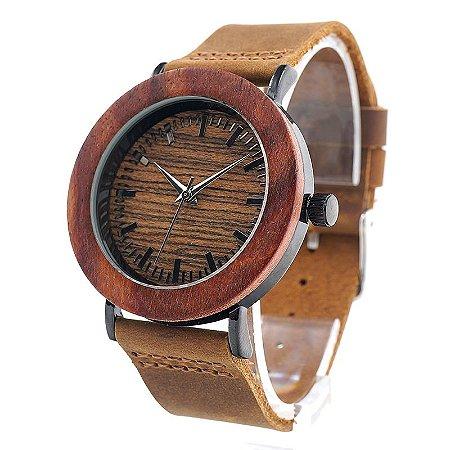Relógio de Madeira Patimos