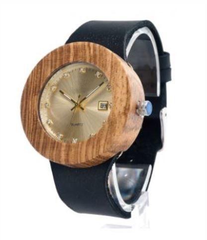 Relógio de Madeira Lian Black