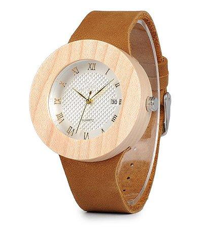 Relógio de Madeira Lian Brown
