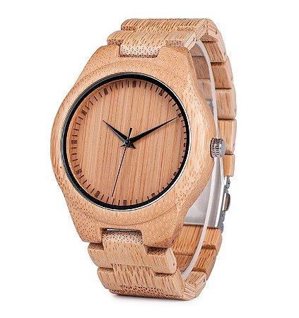 Relógio de Madeira e Bambu Spetses