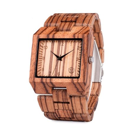 Relógio de Madeira MW Scarfo Wood