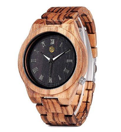 Relógio de Madeira MW Sallerno