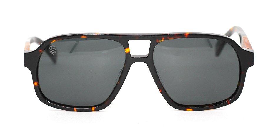 Óculos de Sol de Acetato com Madeira Capone