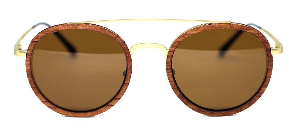 Óculos de Sol de Madeira e Metal Cuba