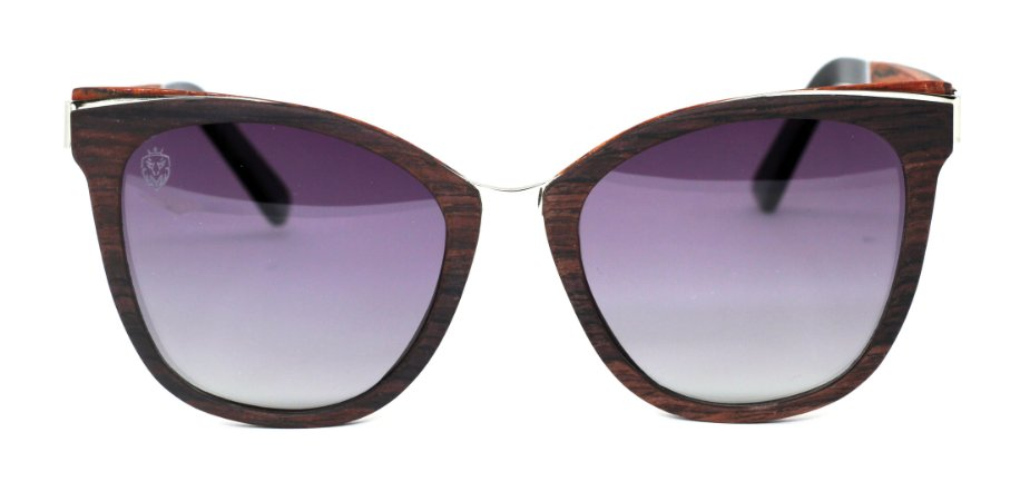 Óculos de Sol de Madeira e Metal Moccia