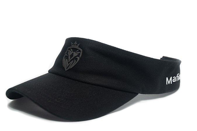 Viseira MW Preta com Logo em Silk Preto
