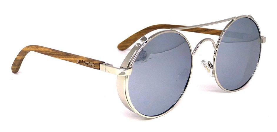 Óculos de Sol de Madeira e Metal Vito Mirror
