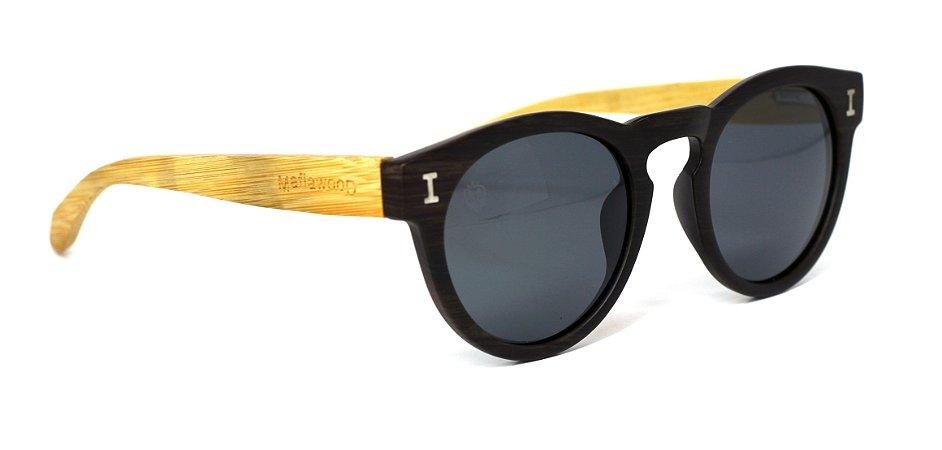 Óculos de Sol de Acetato com Bambu Leonor Brown