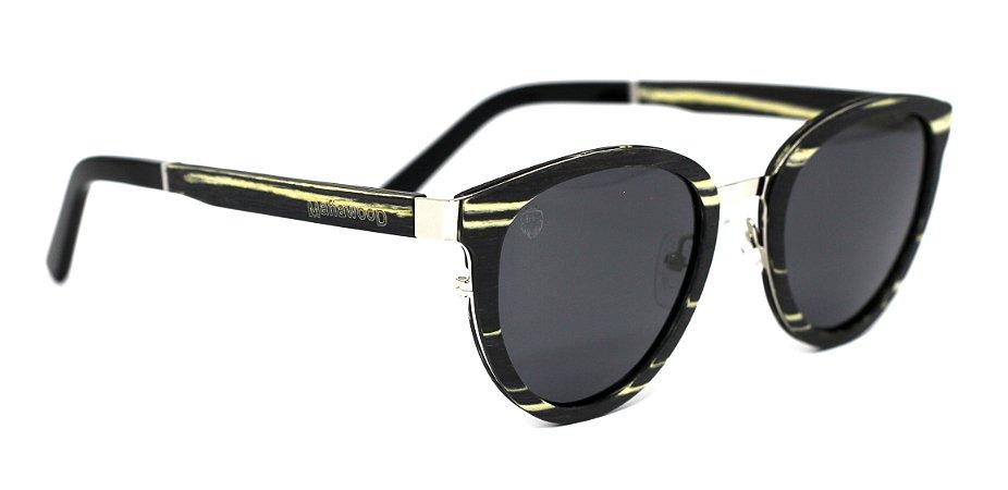 Óculos de Sol de Madeira e Metal Meyer Black
