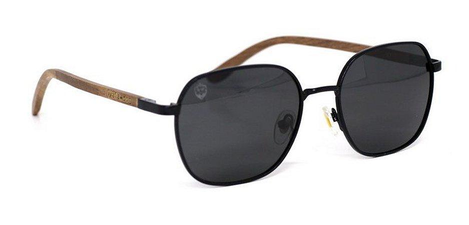 Óculos de Sol de Madeira e Metal Dion Black