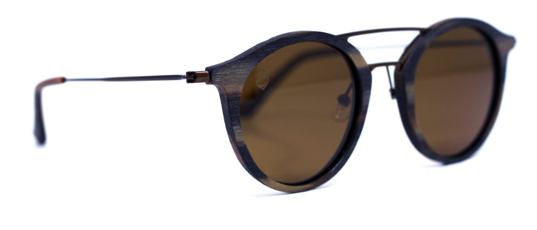 Óculos de Sol de Madeira e Metal Dawood