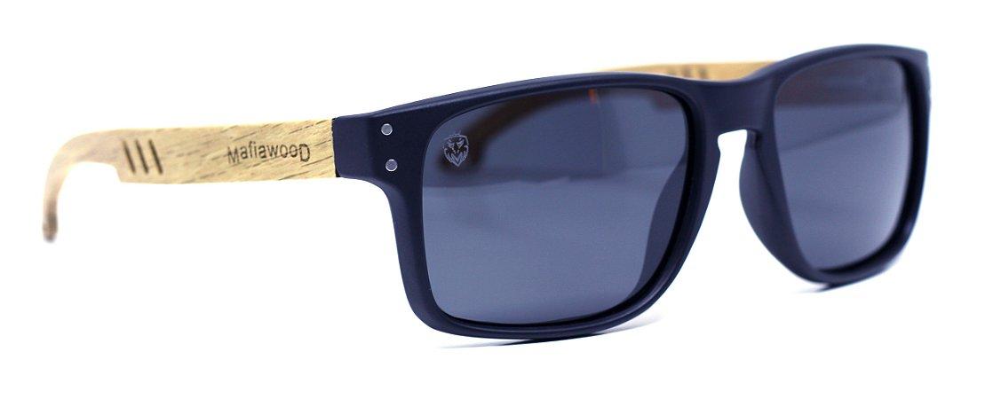 Óculos de Sol de Acetato com Madeira Cascio