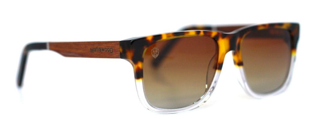 Óculos de Sol de Acetato com Madeira Charlie Turtle