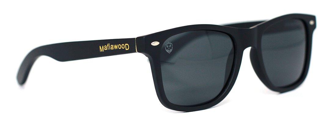 Óculos de Sol de Acetato com Bambu Maranzano Black