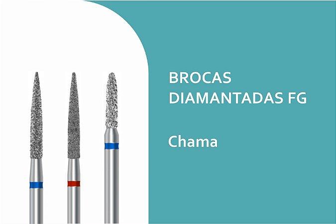 Brocas Diamantadas Cilíndrica Ponta chama FG