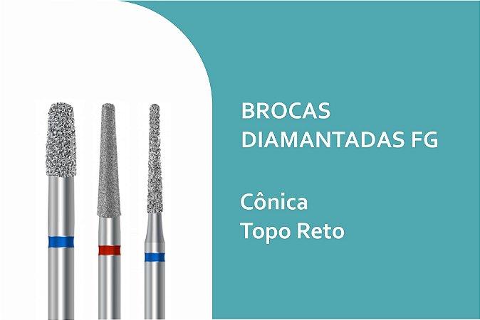 Brocas Diamantadas Cônica Topo Reto FG