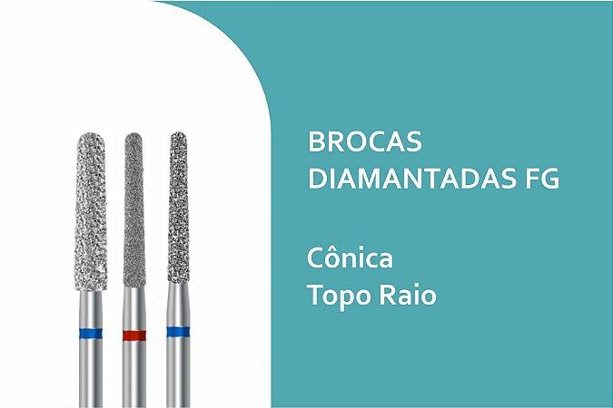Brocas Diamantadas Cônica Topo Raio FG