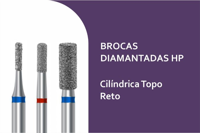 Broca Diamantada Cilíndrica Topo Reto HP