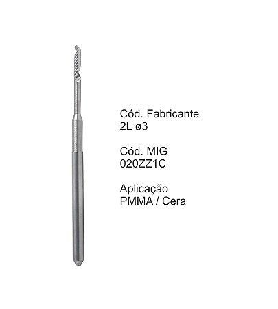 Fresa CAD CAM para Sistemas Zirkonzahn - 020ZZ1C - Aplicação: PMMA / Cera