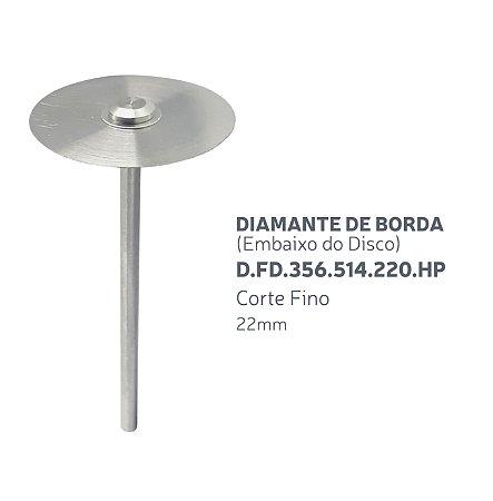 Disco Diamantado - Diamante de Borda (Embaixo do disco) D.FD.356.514.220.HP