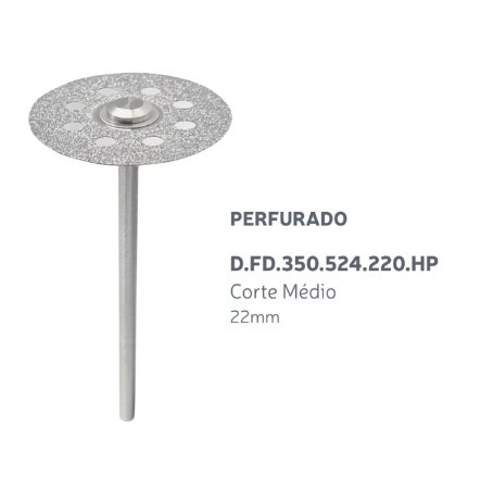 Disco Diamantado - Perfurado - D.FD.350.524.220.HP