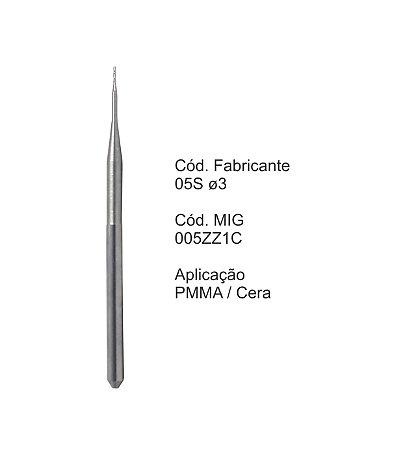Fresa CAD CAM para Sistemas Zirkonzahn - Aplicação: PMMA / Cera