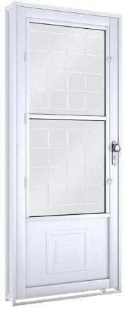 Porta c/ Postigo e Grade Quadrada - Lucasa Facilità