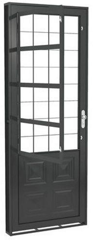 Porta c/ Postigo e Grade Quadrada - Fortsol