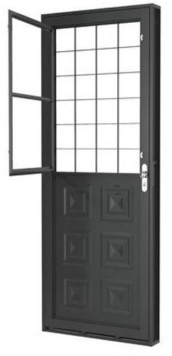 Porta Mista Quadriculada c/ Postigo - Romex