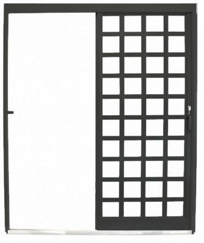Porta de Correr Parede Quadriculada - Metalmax