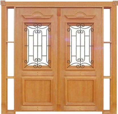 Portal Duplo Realeza c/ Grade Cedro